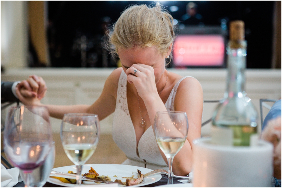 Bride's reaction to best man's toast at Jewish reception