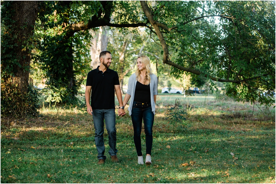 Fall Engagement session in St. Louis