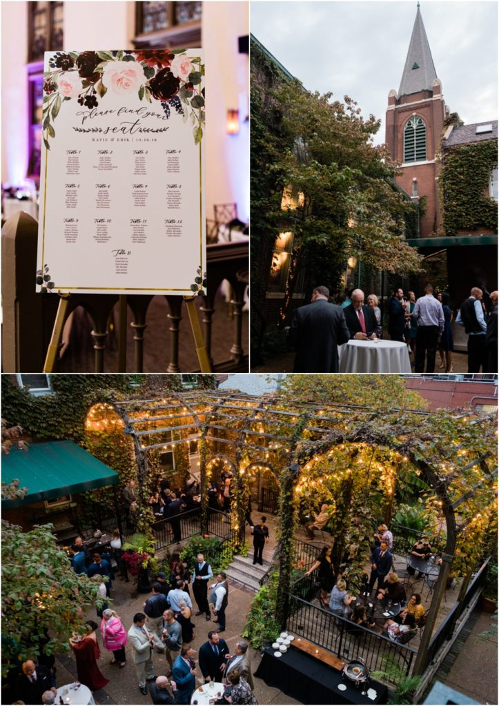 Reception and cocktail hour at 9th Street Abbey