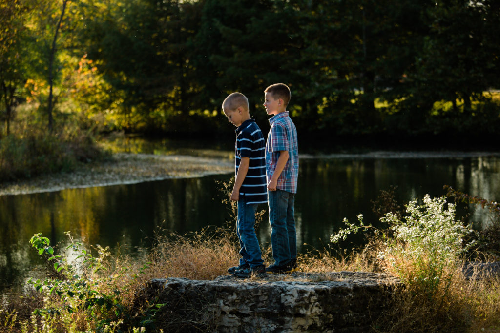 Forest Park, fall family photos, golden hour